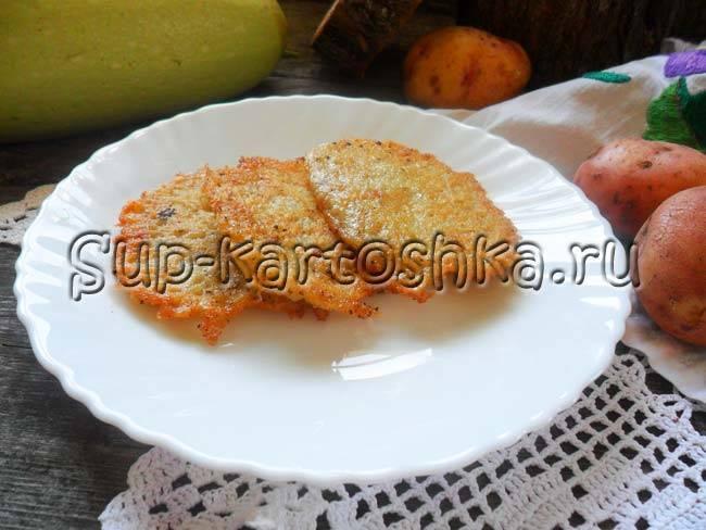 Драники с грибно-сырной начинкой