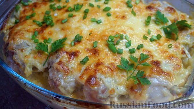 Запечь в духовке куриное филе с картошкой