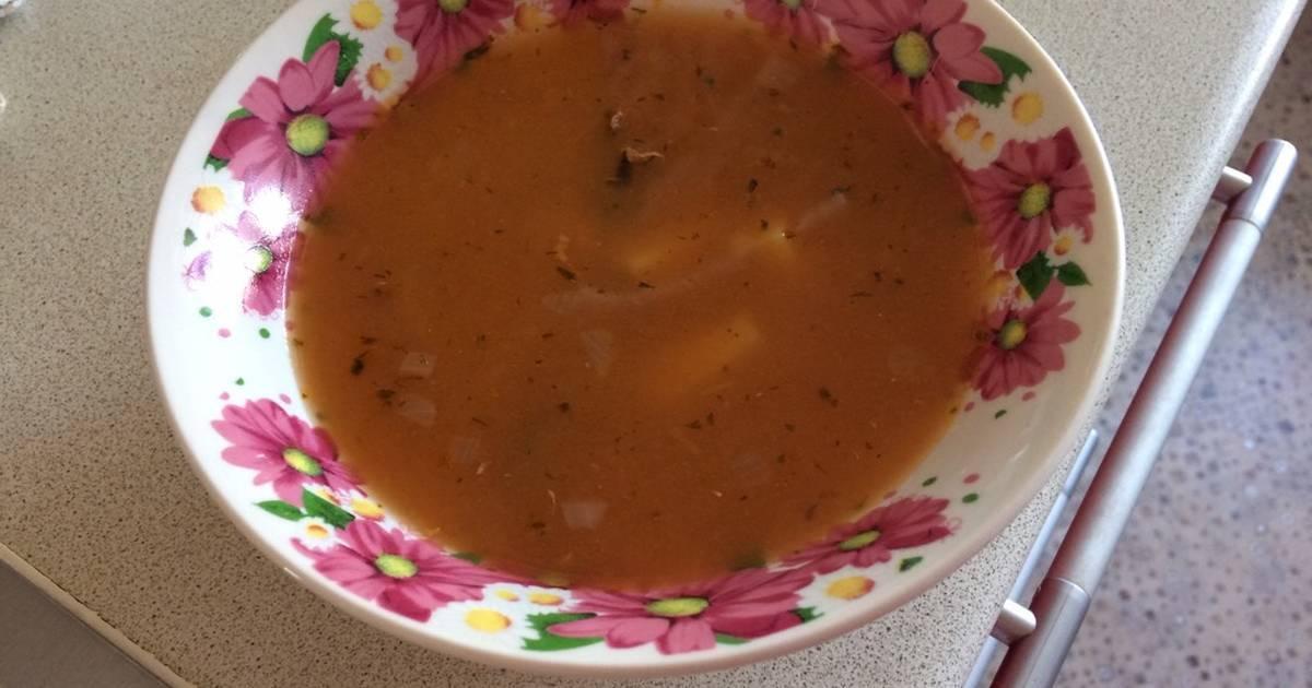 Суп с килькой в томатном соусе
