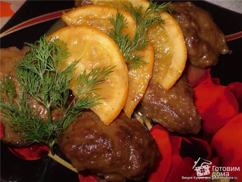 Куриная печень с апельсинами (пошаговый рецепт с фото)