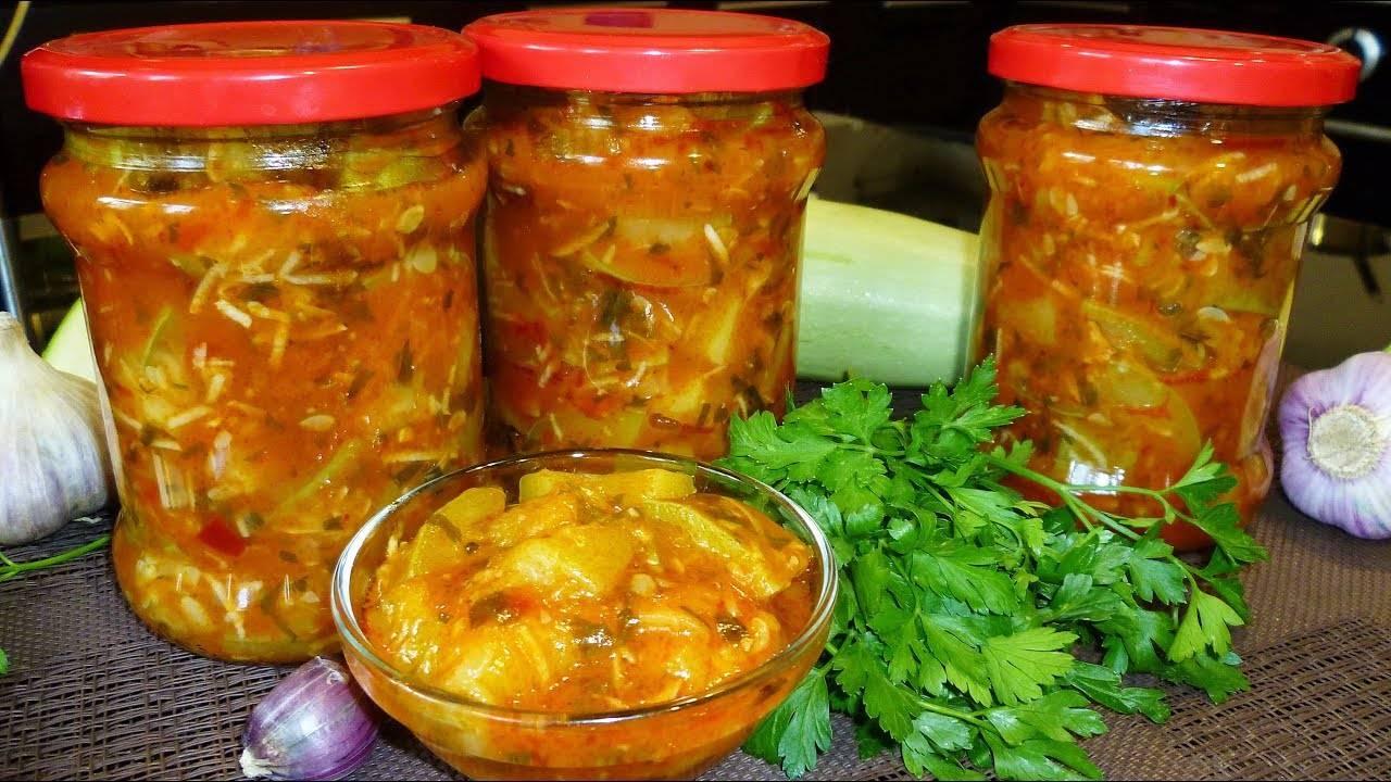 Как заготовить кабачки в томатном соусе на зиму по пошаговому рецепту с фото