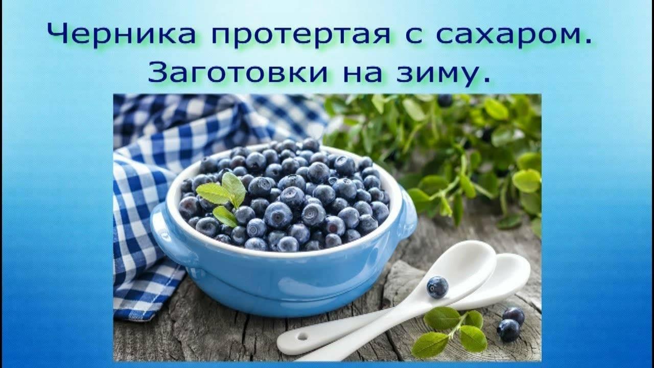 Черника, протертая с сахаром, на зиму: 3 рецепта полезной и вкусной заготовки без варки - onwomen.ru