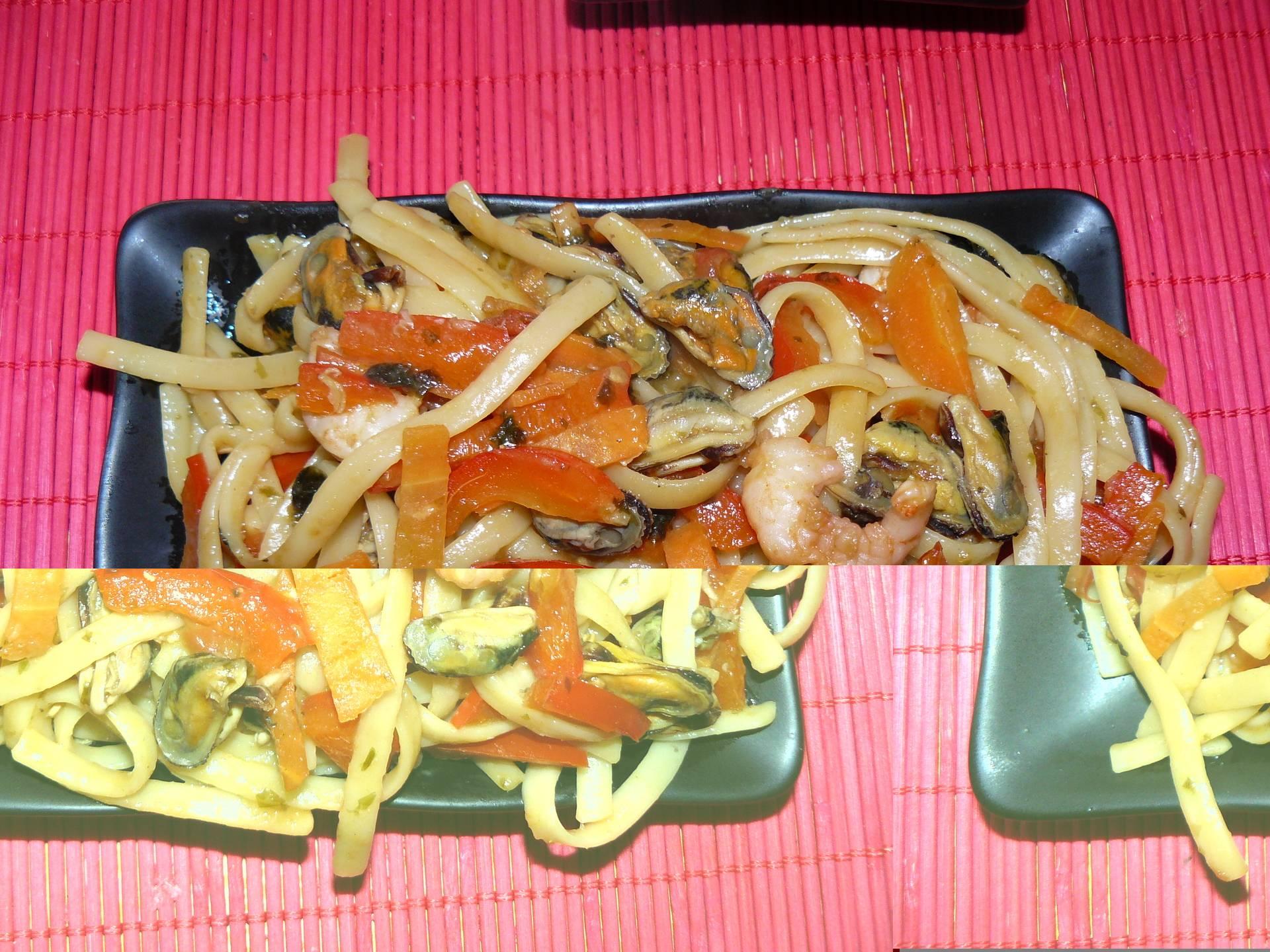 Лапша с морепродуктами: рецепты приготовления и ингредиенты
