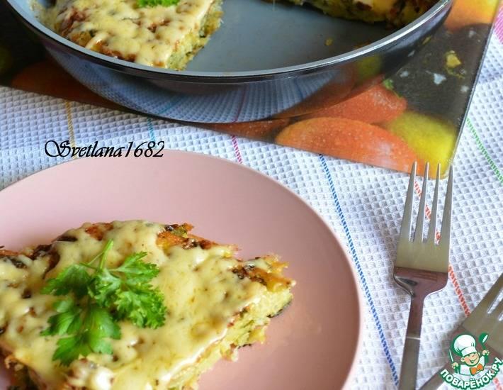 Заливной пирог с картошкой – вкусная и очень сытная выпечка!