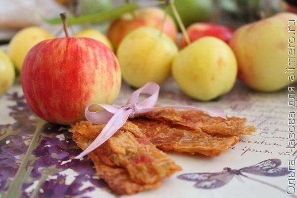 Полезная яблочная пастила без варки