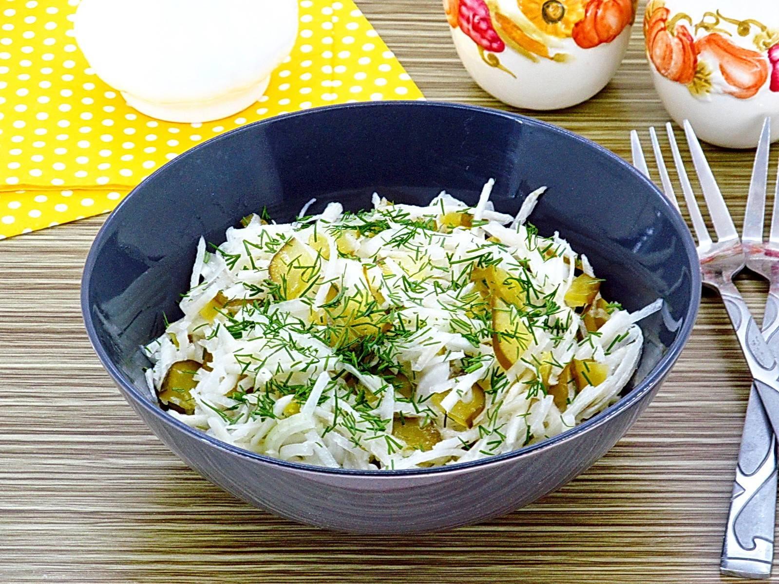 Салат с картофелем и свежим огурцом - 6 пошаговых фото в рецепте