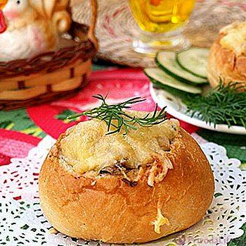 Жульен с курицей и грибами в микроволновке