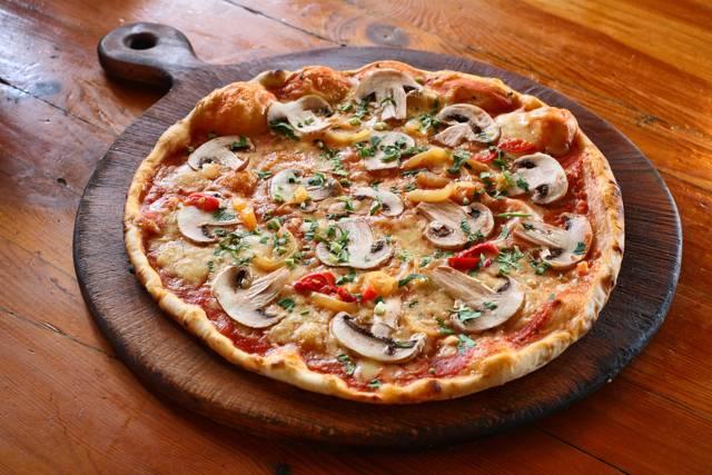 Грибная пицца. пошаговый рецепт с фото