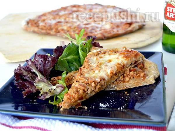 Пицца на пшенично-ржаном тесте — рецепт с фото пошагово