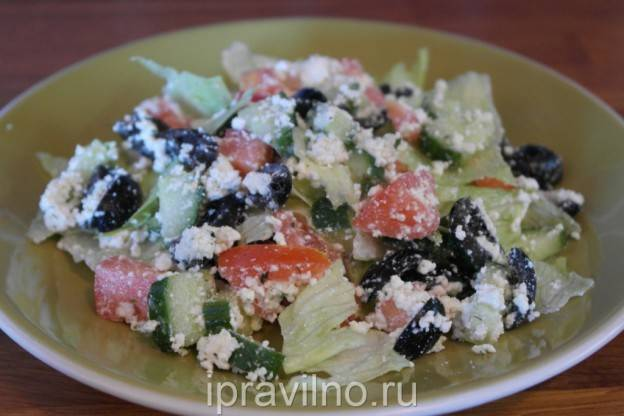 Салат с творогом и овощами - 9 пошаговых фото в рецепте