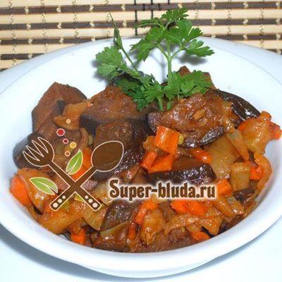 Соте из овощей с кабачками морковью перцем