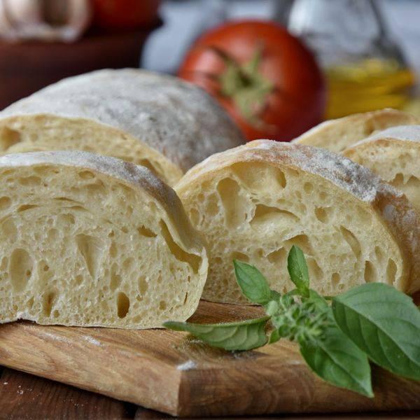Чиабатта — итальянский белый хлеб