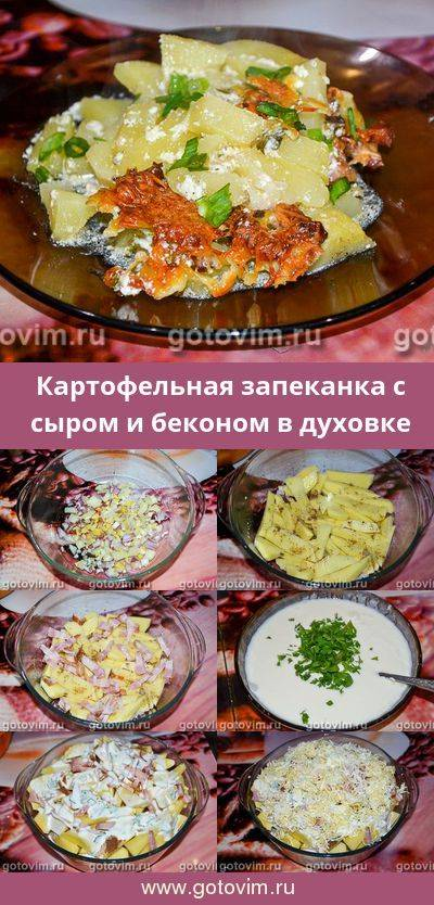 Рецепты запеканка с беконом