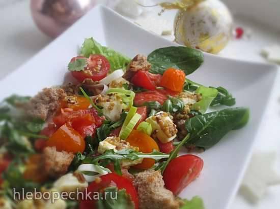 Изысканный салат из лосося и овощей