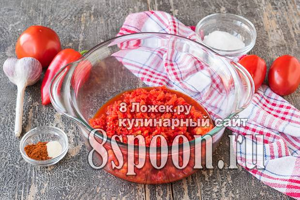 Аджика «огонек» рецепт с фото