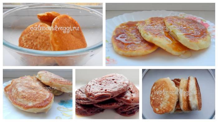 Рецепты с фото пышных постных оладий без яиц и молока с дрожжами и без (пошагово)