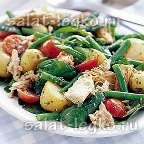 Салат с мандаринами и курицей