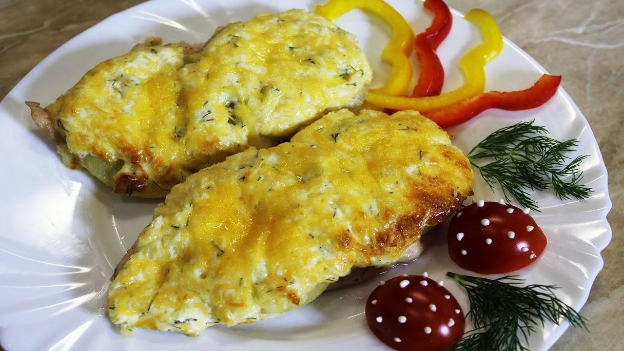 Сочная куриная грудка с ананасом и сыром