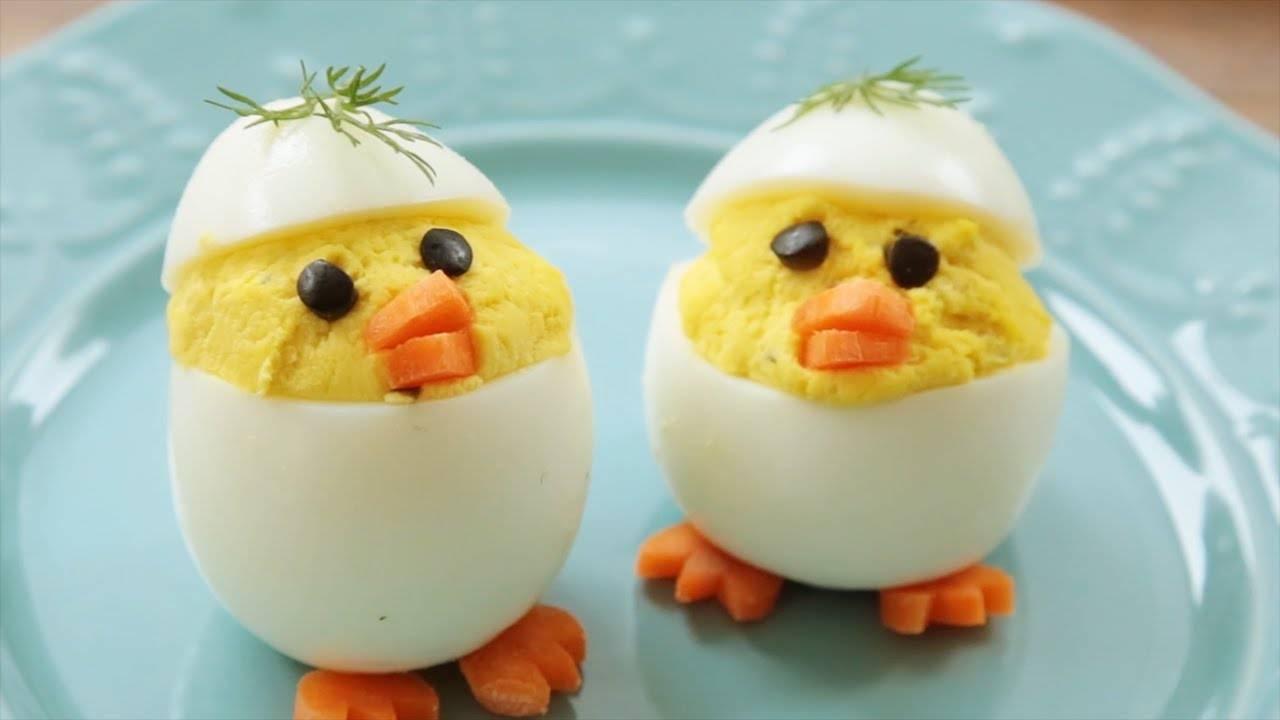 """Фаршированные яйца """"паучки"""""""
