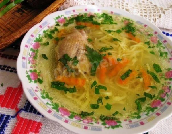 Зама из курицы с домашней лапшой - кулинарный рецепт.
