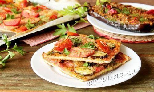Мини-пицца с баклажанами вместо теста