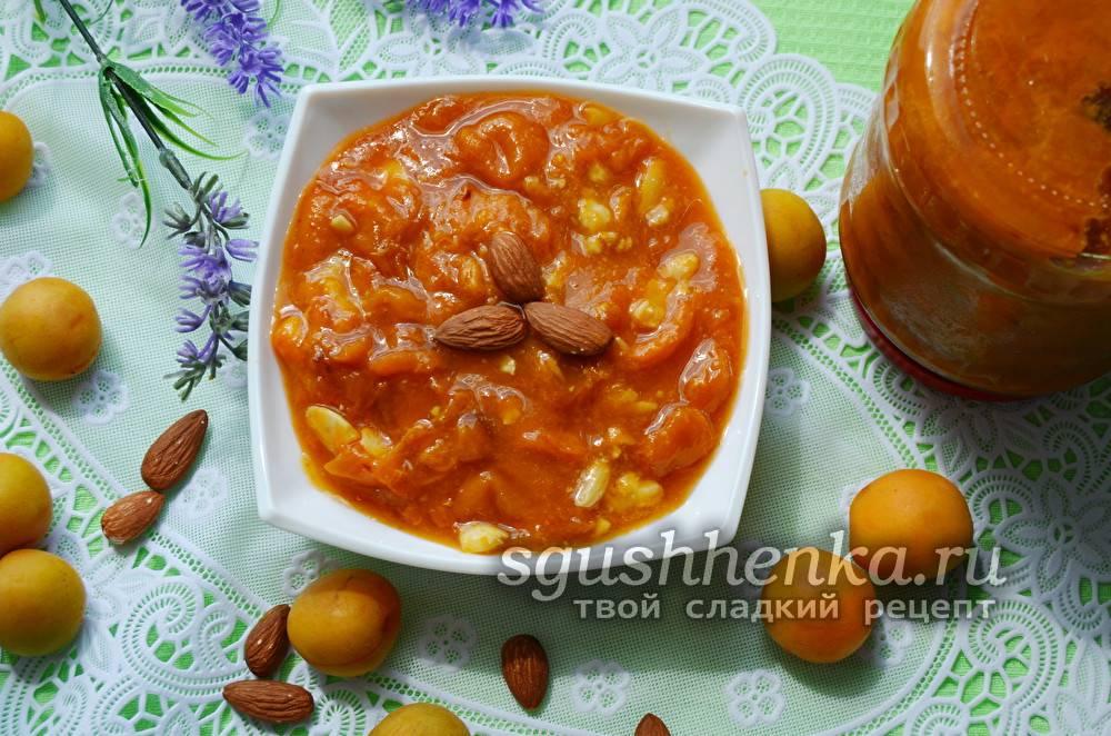 Кулинария абрикосовое варенье с миндалем продукты пищевые