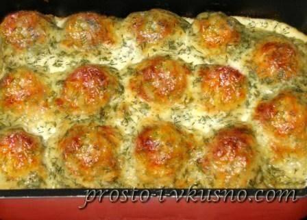 Фрикадельки в сливочном соусе в духовке - 10 пошаговых фото в рецепте