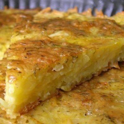 Картофельная запеканка в яично-майонезной заливке