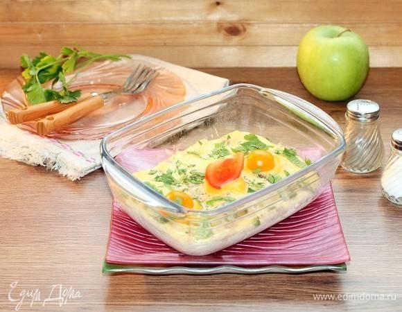 Пышный, ароматный омлет с ветчиной и сыром: в пароварке, на сковороде и в духовке