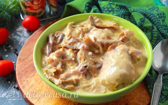 Фрикасе из курицы с грибами: классический рецепт