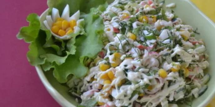 Салат с крабовым мясом №1