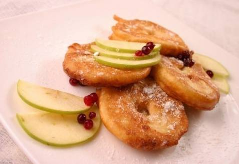 Яблочные оладьи: рецепты с фото
