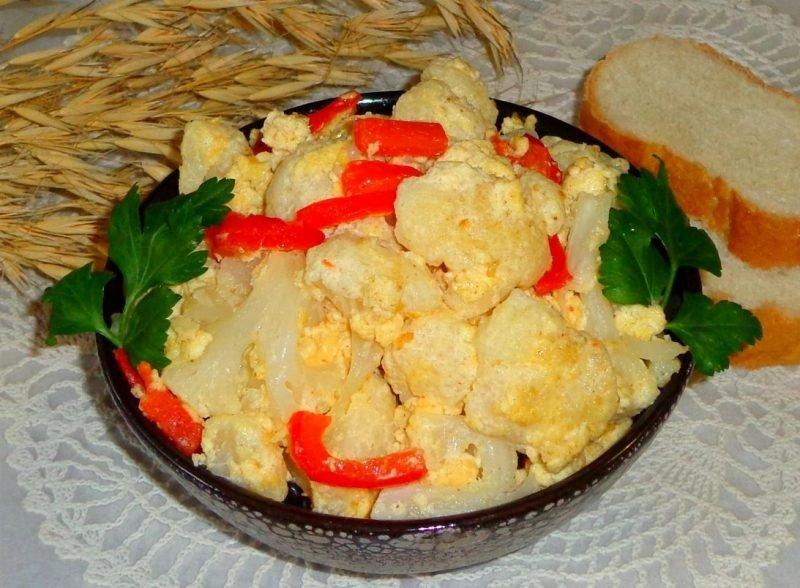 Вкусно и быстро готовим цветную капусту на сковороде
