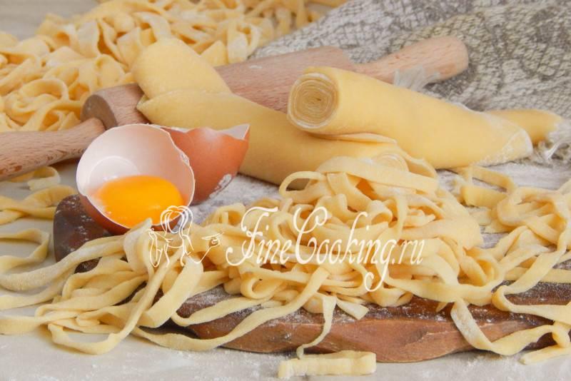 Паста домашняя яичная быстрого приготовления