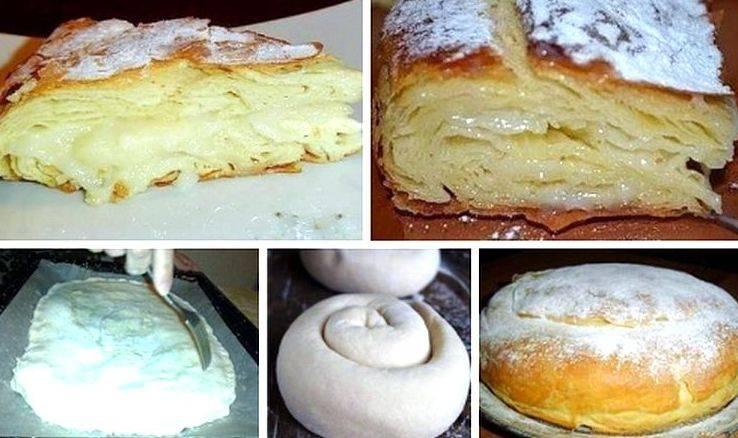 """Рецепт приготовления """"фытыра"""" с заварным кремом - готовим пирог по-египетски"""