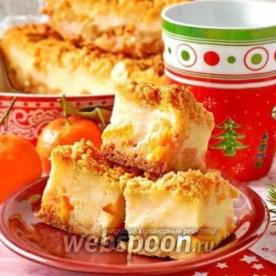 Пирог с мандаринами: простой, заливной, дольками, половинками, целыми
