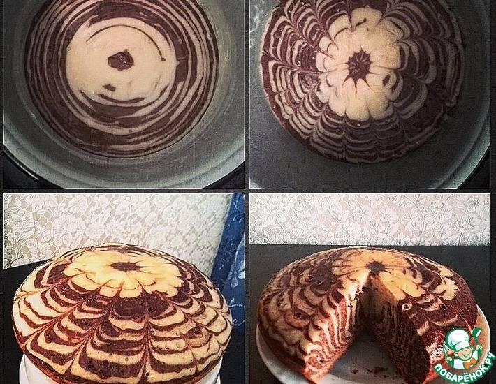 """Пирог """"зебра"""" на сметане: пошаговые рецепты с фото для легкого приготовления"""