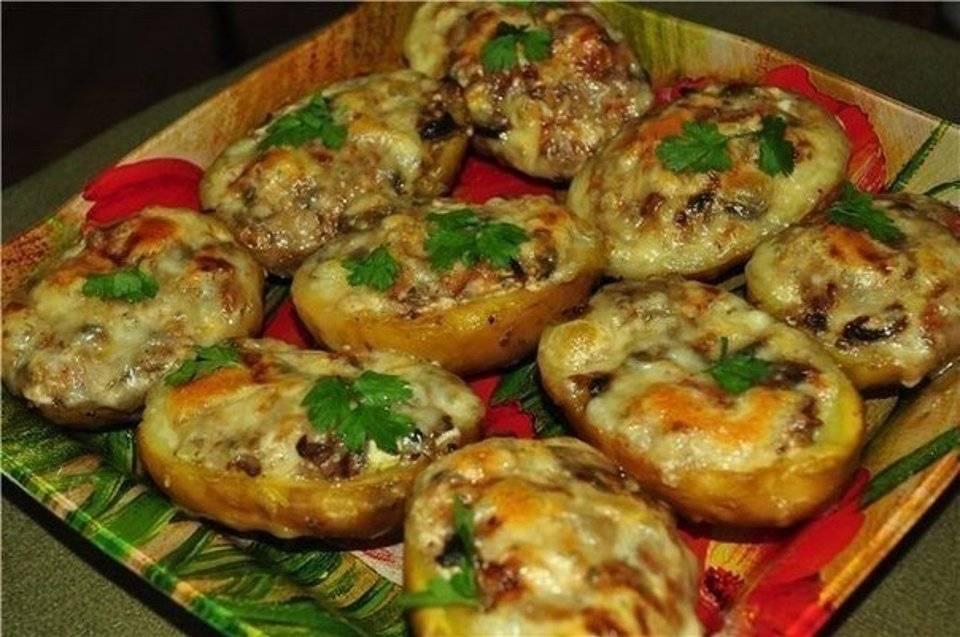 Картофельные лодочки с курицей