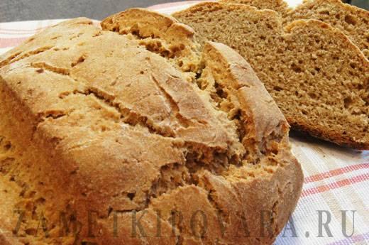 Хлеб из цельнозерновой муки в хлебопечке - 5 пошаговых фото в рецепте