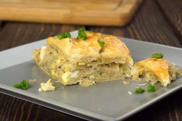 Как приготовить кулебяку с капустой, яйцом и картофелем