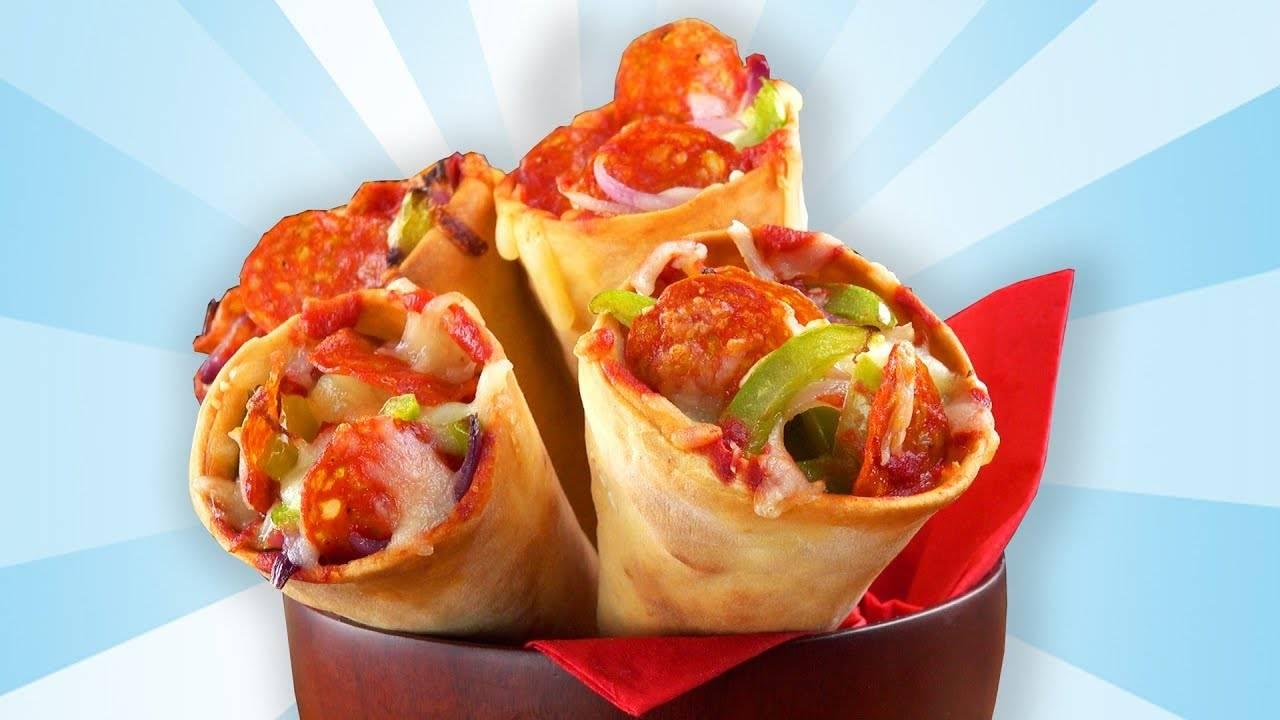 Пицца в рожке — необычная подача домашней пиццы