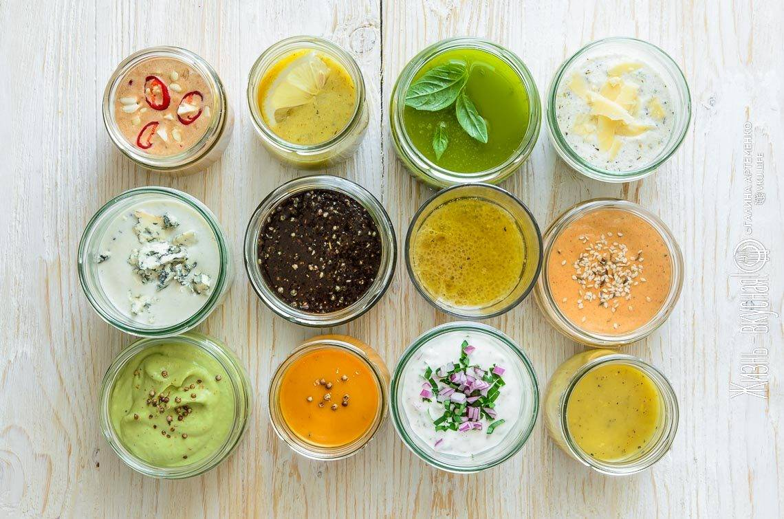 35 простых и вкусных заправок для салата без майонеза – топ рецептов