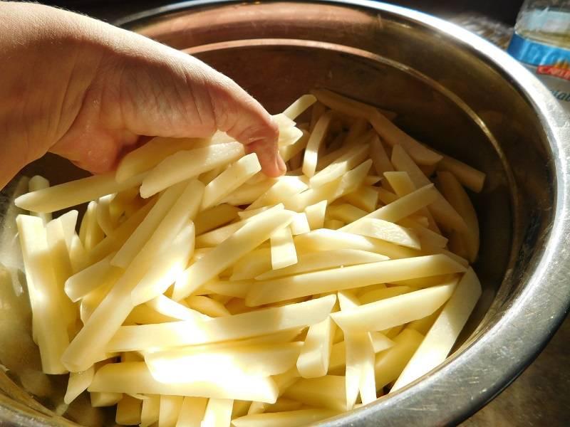 Картошка фри в микроволновке за 5 минут дома