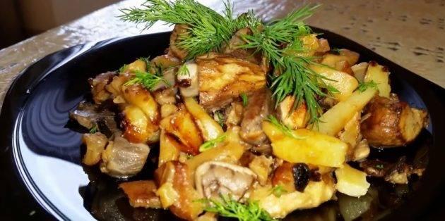 Опята, жареные с картошкой: фото и рецепты, как готовить грибы для праздника и семейной трапезы