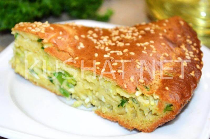 Печенье на сметане с зелёным луком