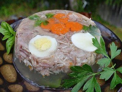 Холодец (студень) из курицы с желатином в домашних условиях