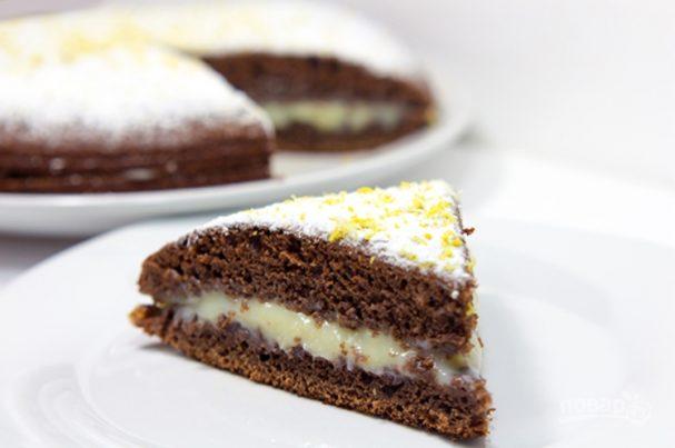 Пирог с заварным кремом пошаговый рецепт приготовления с фото