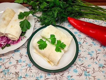 Пирожки из лаваша с капустой и с картофелем и грибами