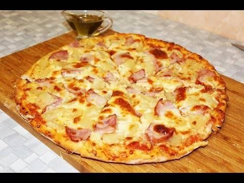 Пицца с курицей и ананасами - рецепт с фотографиями - patee. рецепты