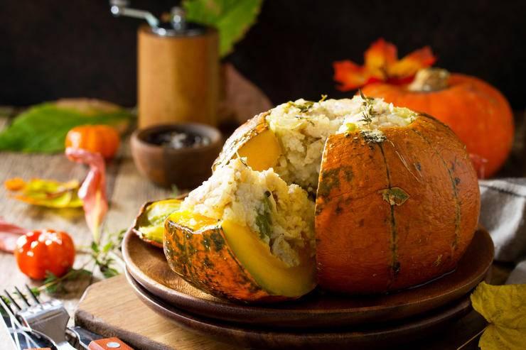 Пошаговый рецепт тыквы, фаршированной мясом и запеченной в духовке